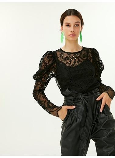 Twist Bluz Siyah